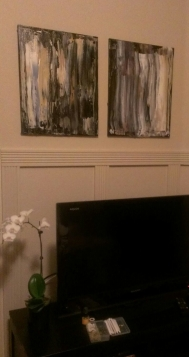 20x16 Works hanging in their new home